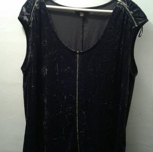Rock and Republic Crushed Velvet Top XL